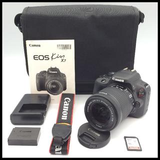 キヤノン(Canon)の軽量コンパクト CANON EOS Kiss X7 標準レンズ カメラバッグ付き(デジタル一眼)