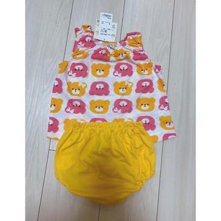 ニシマツヤ(西松屋)のタンクトップ&パンツ クマちゃん セットアップ 80センチ ベビー服(バスローブ)