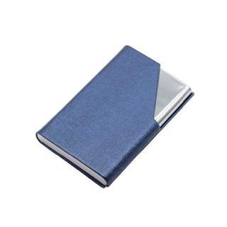 【名刺入れ】ステンレスタイプ マグネット 18枚~22枚収納可能【ブルー】(名刺入れ/定期入れ)