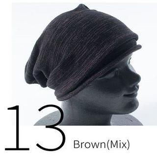 13.Brown(Mix)∇カワイイ∇男女兼用∇帽子サマーコットン∇ニット帽(ニット帽/ビーニー)