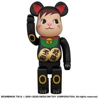 メディコムトイ(MEDICOM TOY)のBE@RBRICK 招き猫 ポコちゃん 黒 400%(その他)