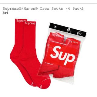 シュプリーム(Supreme)のsupreme Hanes crew socks 1枚(ソックス)