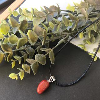 C. ハンドメイドネックレス ネックレス プチプラ レッドジャスパー 天然石(ネックレス)