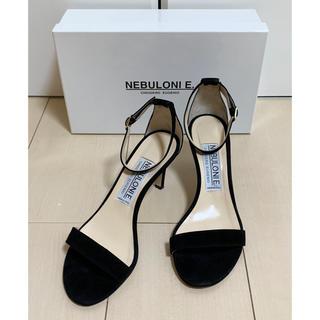 ドゥーズィエムクラス(DEUXIEME CLASSE)の美品Deuxieme Classe購入 NEBULONIEサンダル 黒37.5(サンダル)