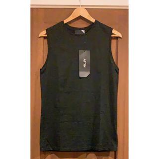 ドゥーズィエムクラス(DEUXIEME CLASSE)の未使用ATONエイトン ノースリーブTシャツ ブラック♪(Tシャツ(半袖/袖なし))