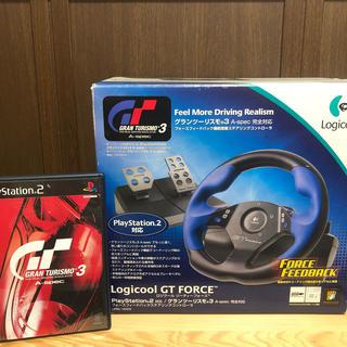 プレイステーション2(PlayStation2)のグランツーリスモ3  フォースフィードバックステアリングコントローラー(家庭用ゲーム機本体)