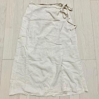 dholic - dholic リネンラップスカート