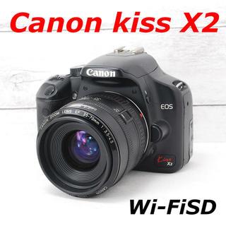 キヤノン(Canon)の❤️カメラバッグ付き❤️スマホ転送❤️Canon kiss X2(デジタル一眼)