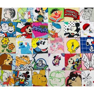 ディズニー(Disney)のビンテージシーツ カットクロス はぎれ 60枚セット(生地/糸)