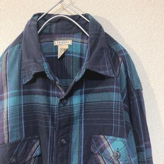 チェックシャツ ネルシャツ 長袖 US古着 アメリカ古着(シャツ)