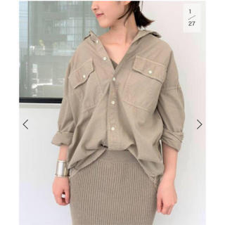 L'Appartement DEUXIEME CLASSE - REMI RELIEF Chambray シャツ ベージュ 未開封新品タグ付き