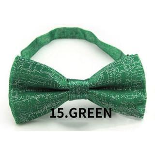 ★新品 送料無料★蝶ネクタイ 蝶タイ★ラメ★カラー:GREEN グリーン 緑(ネクタイ)