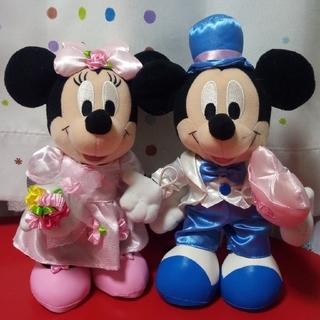 ディズニー(Disney)のミッキー&ミニー☆ ウェディングぬいぐるみ(キャラクターグッズ)