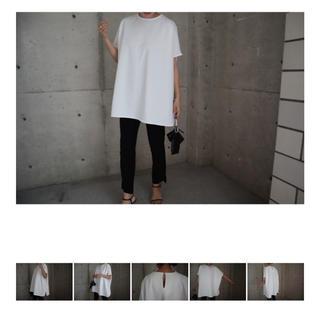 エンフォルド(ENFOLD)のover silhouette pullover ( ivory)(Tシャツ(半袖/袖なし))