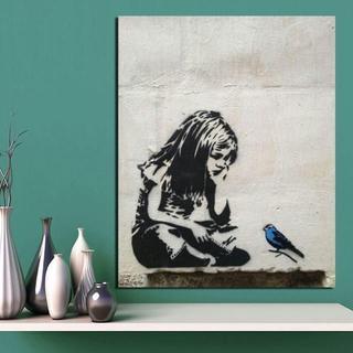 MAA様専用 木枠貼付け加工済 ■ BANKSY バンクシー ■ アート(絵画/タペストリー)