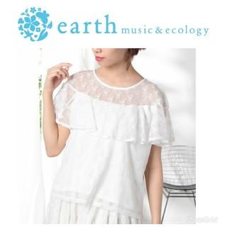 アースミュージックアンドエコロジー(earth music & ecology)の新品未使用 タグ付き earth music&ecology レースプルオーバー(カットソー(半袖/袖なし))