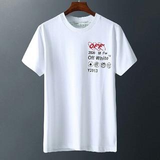 オフホワイト(OFF-WHITE)のoff-white ラウンドネック半袖Tシャツ  (Tシャツ/カットソー(半袖/袖なし))