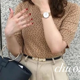 who's who Chico - バックボタンハートプリントニット❤︎