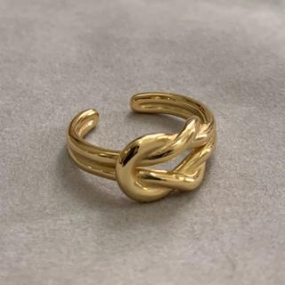 シルバー925×18k 結び目デザインリング ゴールド silver925(リング(指輪))