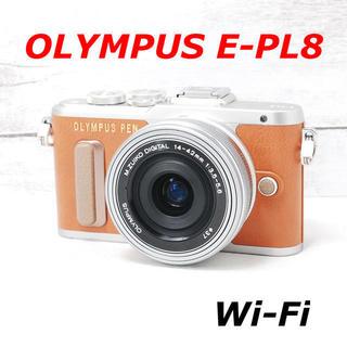 オリンパス(OLYMPUS)の❤️シャッター回数わずか303枚❤️スマホ転送❤️OLYMPUS E-PL8(ミラーレス一眼)