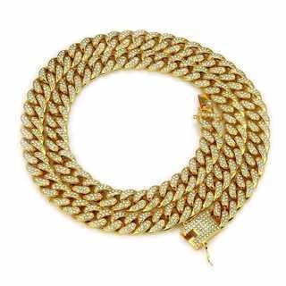 マイアミキューバン ゴールド ネックレス ヒップホップ チェーン 74cm(ネックレス)