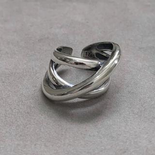 シルバー925 クロスラインリング シルバー silver925(リング(指輪))