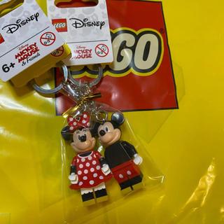 ディズニー(Disney)の新品★レゴ ミッキー ミニー キーホルダー2つセット★(キャラクターグッズ)