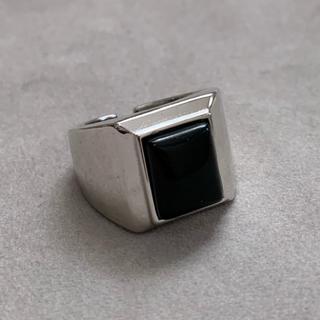 シルバー925 ブラックオニキスカレッジリング silver925(リング(指輪))