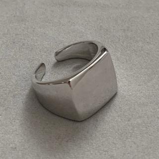 シルバー925 スクエアカレッジリング 印台リング シルバー silver925(リング(指輪))