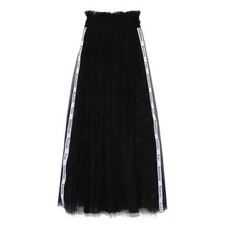 スナイデル(snidel)のSNIDEL ロゴ刺繍チュールスカート(ロングスカート)