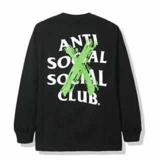 アンチ(ANTI)のアンチソーシャルソーシャルクラブ❤ロンT Tシャツ Mサイズ 黒 Tシャツ(Tシャツ/カットソー(七分/長袖))