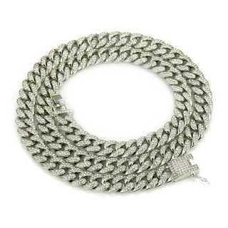 マイアミキューバン シルバー ネックレス ヒップホップ チェーン 74cm(ネックレス)