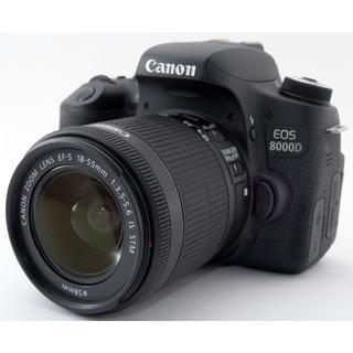 キヤノン(Canon)のCanon EOS 8000D レンズキット❤スマホに送れる❤(デジタル一眼)