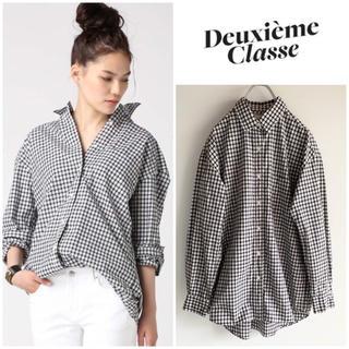 ドゥーズィエムクラス(DEUXIEME CLASSE)の完売 Deuxieme Classe タータンチェック ビッグシャツ F(シャツ/ブラウス(長袖/七分))