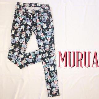 ムルーア(MURUA)の爆安♪ムルーア 美脚ストレッチ フラワースキニー♡マウジー スライ(スキニーパンツ)