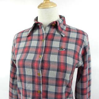ヴィヴィアンウエストウッド(Vivienne Westwood)のヴィヴィアンウエストウッド RED LABEL オーブ刺しゅう チェックシャツ(シャツ/ブラウス(長袖/七分))