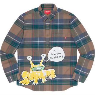シュプリーム(Supreme)のLサイズ supreme Daniel Johnston Plaid Shirt(シャツ)
