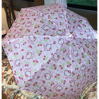 ハローキティ - 【未使用】キティちゃんの折りたたみ傘