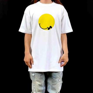 新品 ニコちゃん マーク スマイリー スマイル 崩れ 福笑い ビッグ Tシャツ(Tシャツ/カットソー(半袖/袖なし))