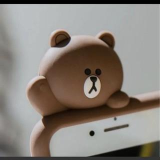 入荷!新品 iPhoneシリコンカバー ラインフレンズ ブラウン シリコンケース