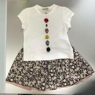 ファミリア(familiar)のファミリアfdash  Tシャツ&スカート 100(スカート)