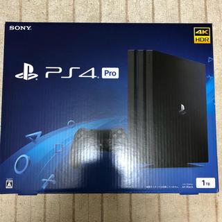 プレイステーション4(PlayStation4)の【未開封新品】ps4 pro ジェットブラック 本体 1TB(家庭用ゲーム機本体)