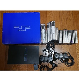 プレイステーション2(PlayStation2)のPlayStation2 PS2本体 ソフト19本(家庭用ゲーム機本体)