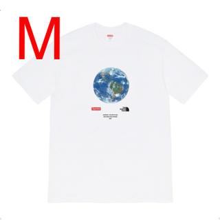 シュプリーム(Supreme)の【M】シュプリーム ノースフェイス One World Tee White 白(Tシャツ/カットソー(半袖/袖なし))