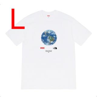 シュプリーム(Supreme)の【L】シュプリーム ノースフェイス One World Tee White 白(Tシャツ/カットソー(半袖/袖なし))