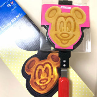 ディズニー(Disney)のラクマ 最安!ディズニーリゾート【ミッキー ワッフルメーカー】(調理道具/製菓道具)