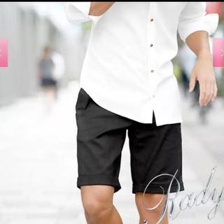 レディー(Rady)のRady きれいめ men's ハーフパンツ 黒 Lサイズ 美品(ハーフパンツ)
