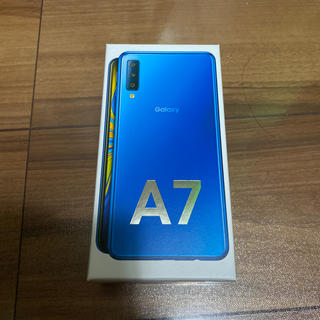 Galaxy A7 64GB ブルー(スマートフォン本体)