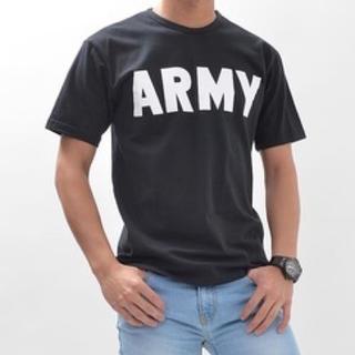 リレーション ARMYプリントTシャツ 黒 M(Tシャツ/カットソー(半袖/袖なし))