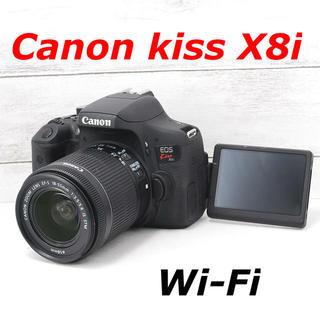キヤノン(Canon)の❤️Wi-Fi搭載❤️自撮りもらくらく❤️Canon kiss X8i(デジタル一眼)